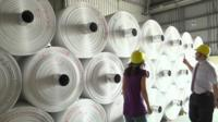 Rolls of stone paper