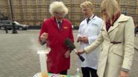 Prof Martyn Poliakoff, Jo Johnson and Ellie Price