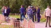 """19 авгута в Сургуте преступник с муляжом """"пояса смертника"""" ранил ножом 7 прохожих."""