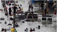 Flooded streets in Mumbai