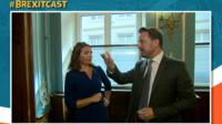 Katya Adler with Luxembourg PM Xavier Bettel