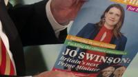 Jo Swinson image on election leaflet