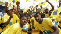 Supporters of Angola's Casa-CE party