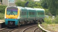 Arriva train in north Wales