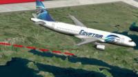 Graphic illustration of EgyptAir flight