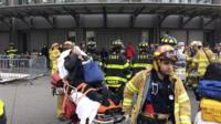 Emergency workers in New York