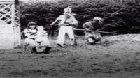 Screenshot from the film Kidnapping by Indians.