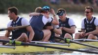 Boat Races 2017: Oxford men celebrate