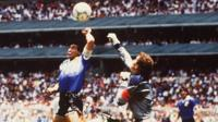Maradona scores against England