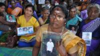 Shanmugampillai Sarojini says her son was taken by the military