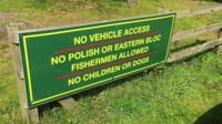 The sign in Launton