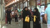 shoppers in Dubai