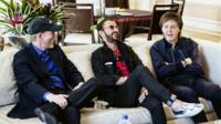 Ron Howard, Ringo Starr and Paul McCartney