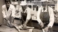 Three generations of butchers