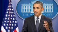President Barack Obama speaks about new rules aimed at deterring tax inversions. Washington. 5 April 2016.