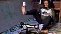 Egyptian seamstress Baraka Shenouda