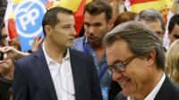 Catalonia President Artur Mas casts his vote