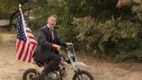 Bryan Wilson on motorbike