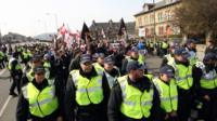 Anti-immigration protest in Dover