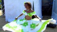 Dancer at Mauritian festival