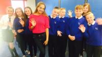 Naz meets school kids in Scotland