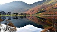 Lake Buttermere in the Lake District in Cumbria