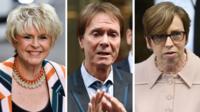 Gloria Hunniford, Sir Cliff Richard, Fran Unsworth
