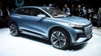 The electric-powered Audi Q4 E-tron SUV