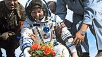 Helen Sharman after landing