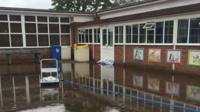 Flooded school