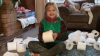 Maggie with toilet roll