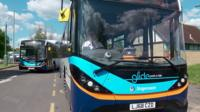 Electric bus in Guildford