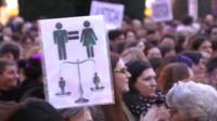 Women stage rally in Madrid