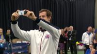 Andy Murray takes a selfie