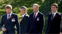 Prince Harry, Prince William and Justin Trudeau