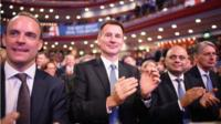 Cabinet ministers at the Conservative Party conference
