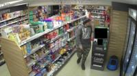 Baxter was caught on shop CCTV footage in a number of shops including in Pendine