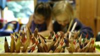 Colouring pencils in a nursery