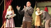 Actors performing Hamlet