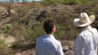 Looking at the border