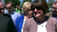 Arlene Foster is among the crowd at the Ulster Football Final between Donegal and Fermanagh in Clones, County Monaghan