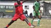 George Weah plays in pre-inauguration match