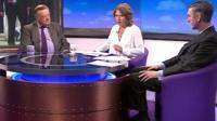 Ken Clarke, Jo Coburn and Jacob Rees-Mogg