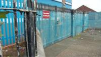The bomb was left outside the gates of Holy Cross Boy's Primary School