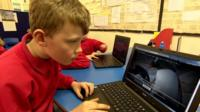 Young boy carries out Antarctic citizen science (c) BBC News