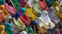 Eid worshippers