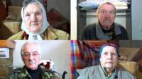 old people in Donbas