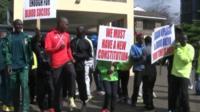 Athletes protesting