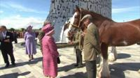 The Queen and Duke of Edinburgh at The Kelpies