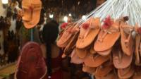 A sandals shop in Kolhapur